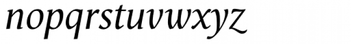 Vega Antikva Italic Font LOWERCASE