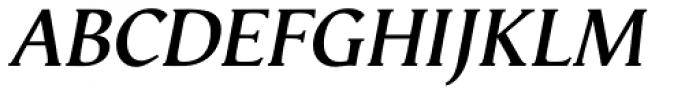 Vega Antikva SemiBold Italic Font UPPERCASE