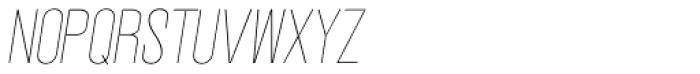 Vegas Nova Thin Italic Font UPPERCASE
