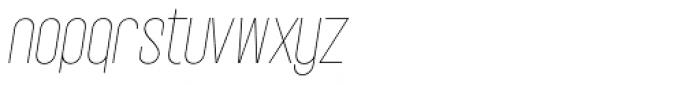 Vegas Nova Thin Italic Font LOWERCASE