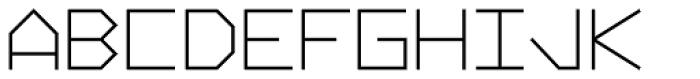 Vektori Narrow Bold Font UPPERCASE