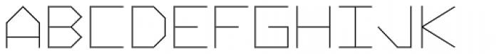 Vektori Narrow Font UPPERCASE