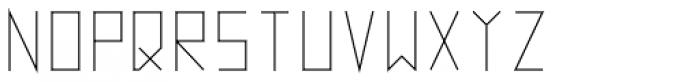 Vektori SuperNarrow Font UPPERCASE