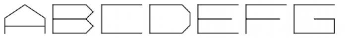 Vektori Wide Font UPPERCASE