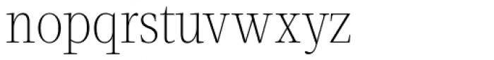 Velino Condensed Text Thin Font LOWERCASE