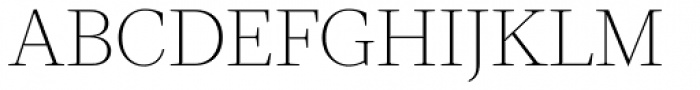 Velino Text Thin Font UPPERCASE