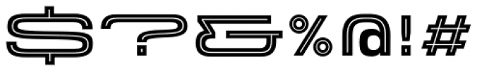 Velodroma Inline Super Wide Font OTHER CHARS
