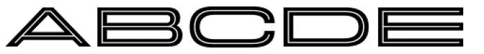 Velodroma Inline Super Wide Font UPPERCASE