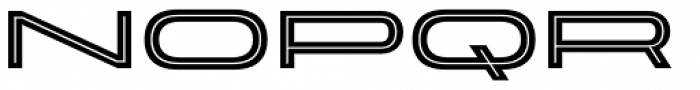Velodroma Inline Super Wide Font LOWERCASE
