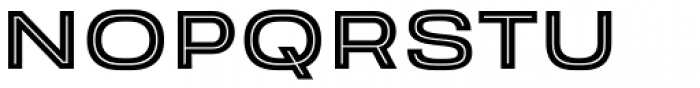 Velodroma Inline Wide Font UPPERCASE