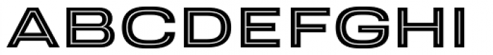 Velodroma Inline Wide Font LOWERCASE
