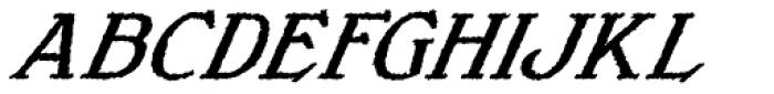 Veneribe Oblique Font UPPERCASE