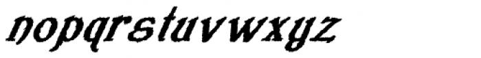 Veneribe Oblique Font LOWERCASE