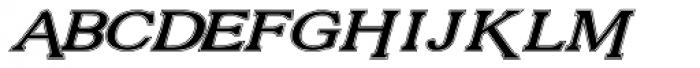Vengeance Lined Italic Font UPPERCASE