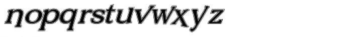 Vengeance Lined Italic Font LOWERCASE