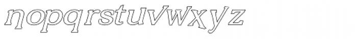 Vengeance Outline Italic Font LOWERCASE