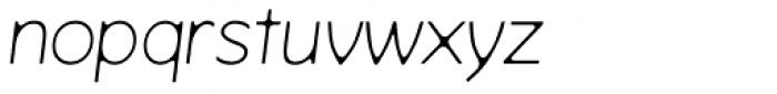 Venkmann Light Italic Font LOWERCASE