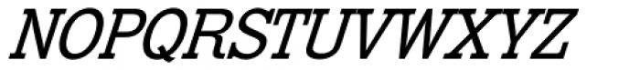 Venus Egyptienne Pro Kursiv Halbfett Font UPPERCASE