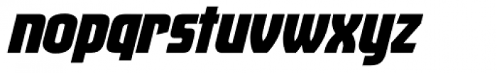 Venus Envy Sfactor Black Italic Font LOWERCASE