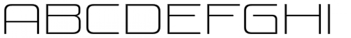 Venus Rising UltraLight Font LOWERCASE