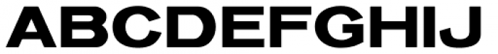 Venusian Bold Extended Font UPPERCASE