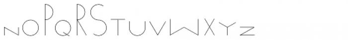 Venzel Light Font LOWERCASE