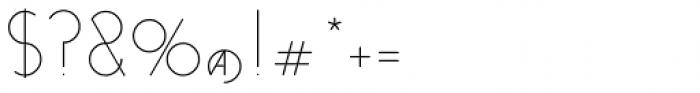 Venzel Semilight Font OTHER CHARS