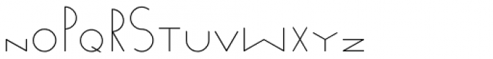 Venzel Semilight Font LOWERCASE