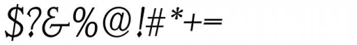 Veracruz Serial ExtraLight Italic Font OTHER CHARS