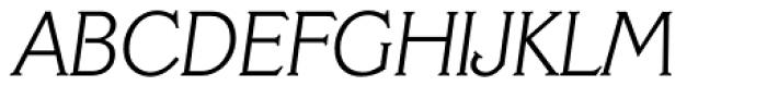 Veracruz Serial ExtraLight Italic Font UPPERCASE