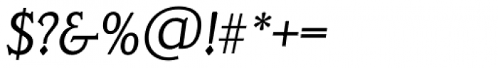 Veracruz TS Light Italic Font OTHER CHARS