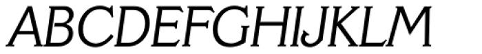 Veracruz TS Light Italic Font UPPERCASE