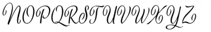 Verao Hand Font UPPERCASE