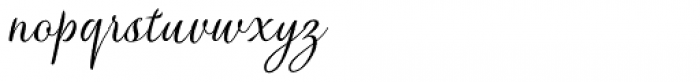 Verao Hand Font LOWERCASE
