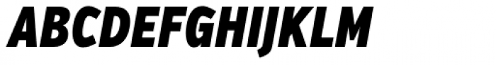 Verb Compressed Black Italic Font UPPERCASE