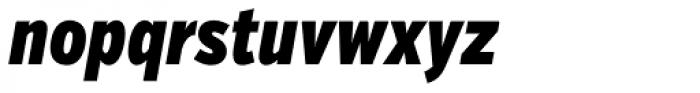 Verb Compressed Black Italic Font LOWERCASE