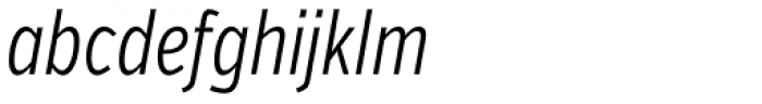 Verb Compressed Light Italic Font LOWERCASE