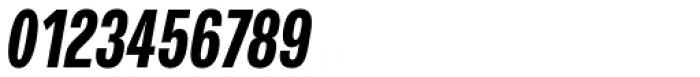 Verbatim Condensed Bold Oblique Font OTHER CHARS