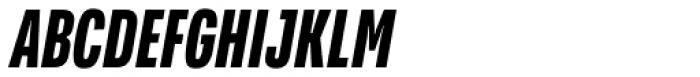 Verbatim Condensed Bold Oblique Font UPPERCASE