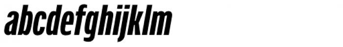 Verbatim Condensed Bold Oblique Font LOWERCASE