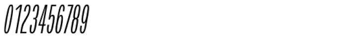 Verbatim Condensed Light Oblique Font OTHER CHARS