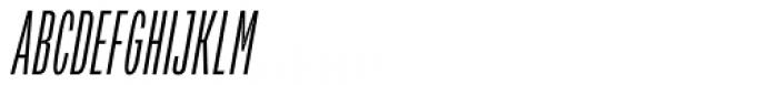 Verbatim Condensed Light Oblique Font UPPERCASE