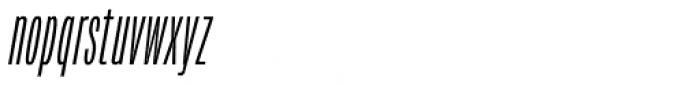 Verbatim Condensed Light Oblique Font LOWERCASE