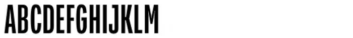 Verbatim Condensed Medium Font UPPERCASE