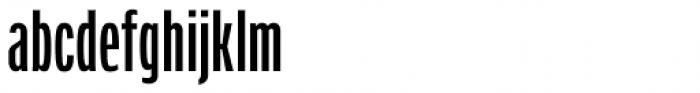 Verbatim Condensed Medium Font LOWERCASE