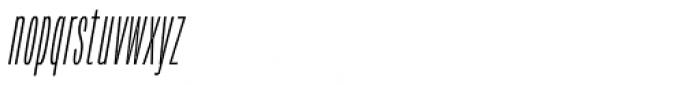 Verbatim Condensed Thin Oblique Font LOWERCASE