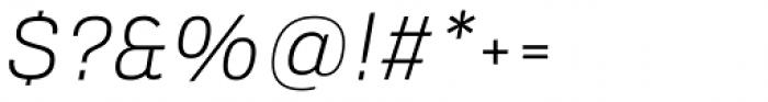 Verbatim Light Oblique Font OTHER CHARS