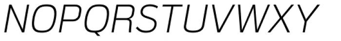 Verbatim Light Oblique Font UPPERCASE
