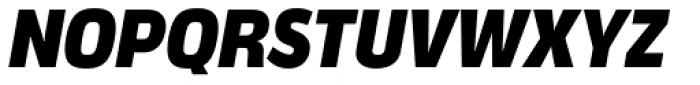 Verbatim Narrow Black Oblique Font UPPERCASE
