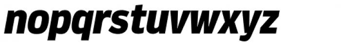Verbatim Narrow Black Oblique Font LOWERCASE
